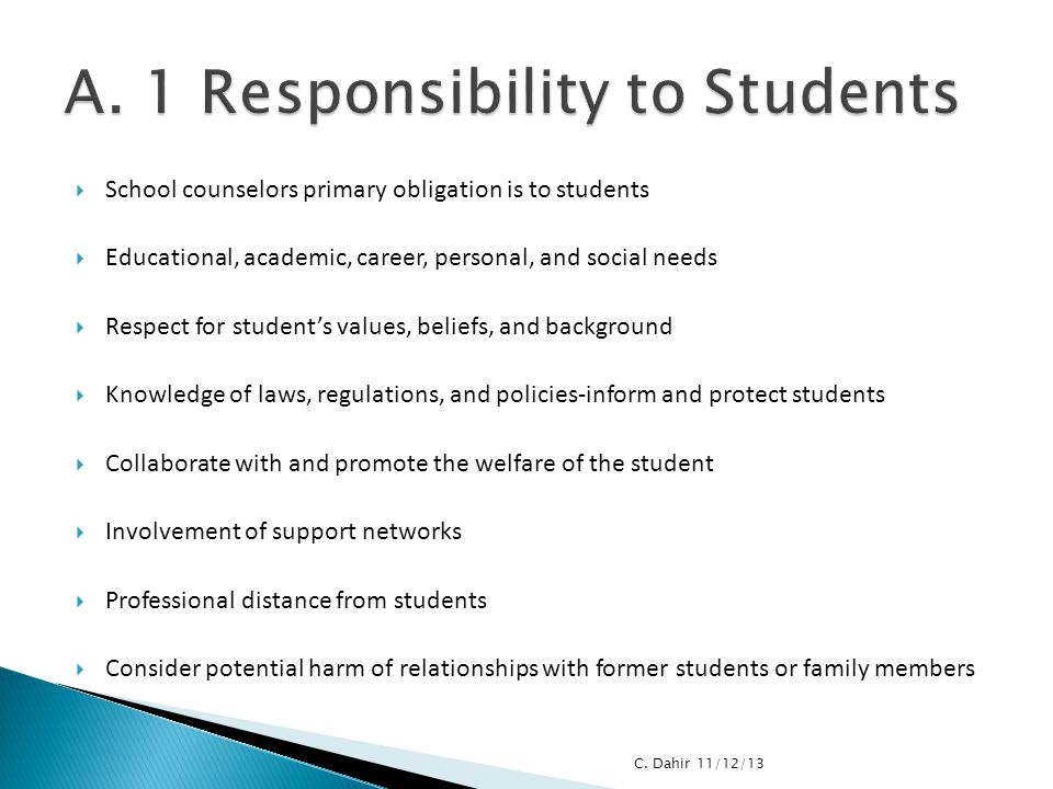 A. 1 Responsibility to Students