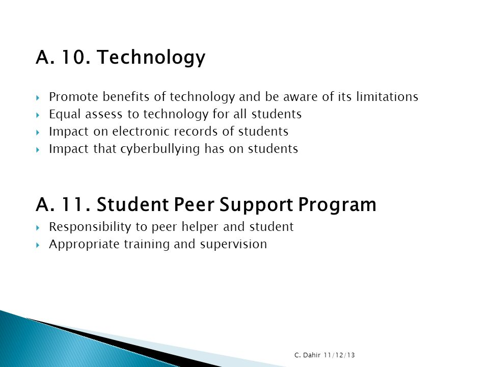 A. 11. Student Peer Support Program