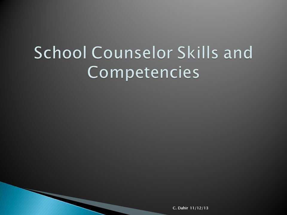School Counselor Skills and Competencies