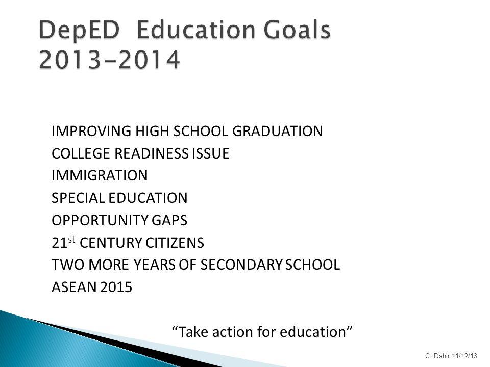 DepED Education Goals 2013-2014