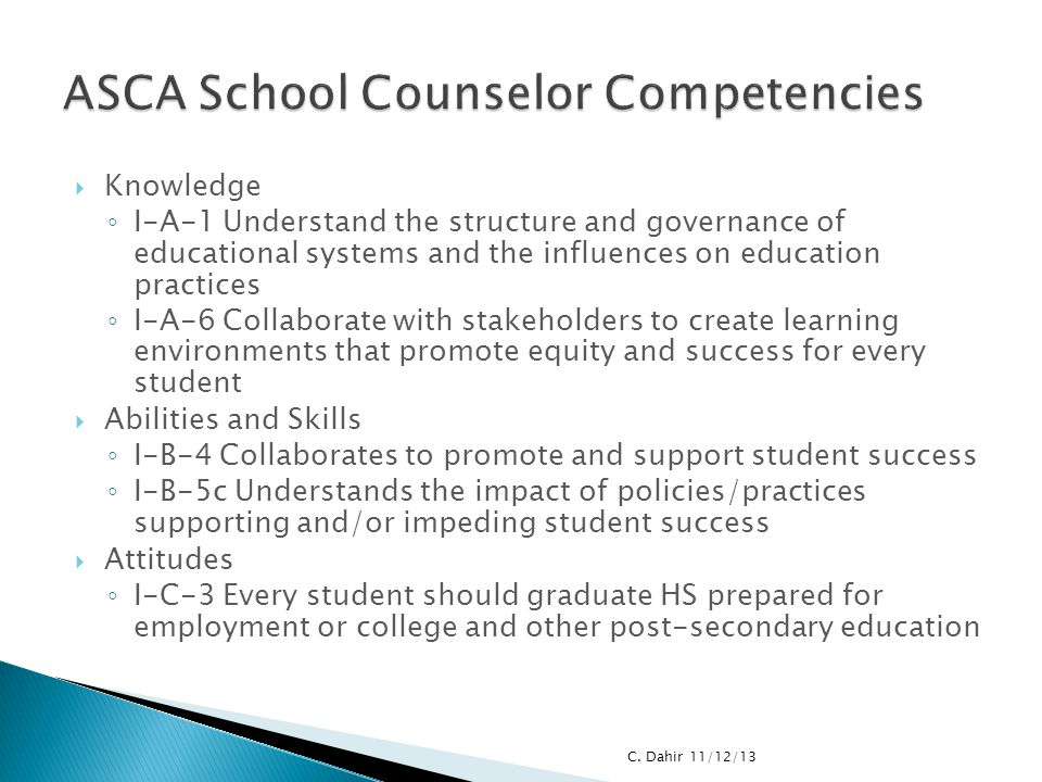 ASCA School Counselor Competencies