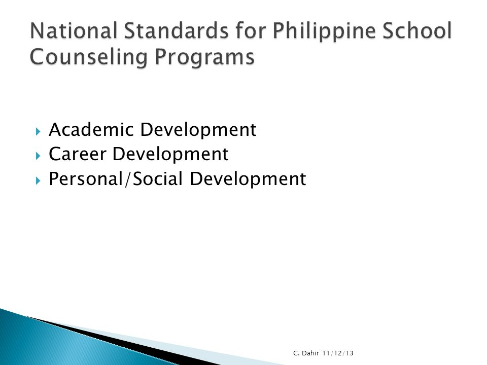 National Standards for Philippine School Counseling Programs