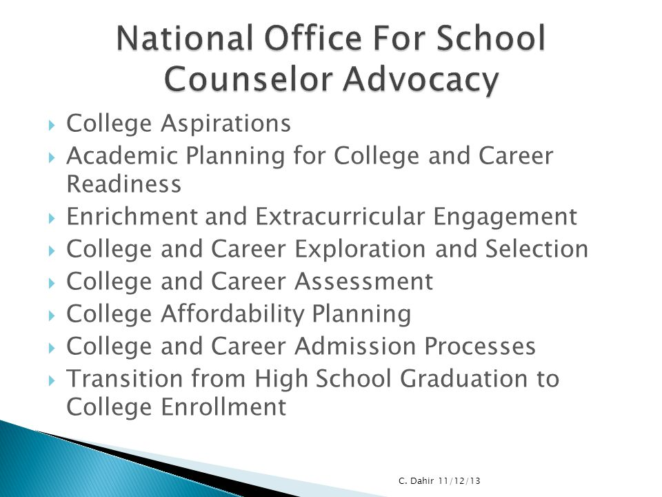 National Office For School Counselor Advocacy