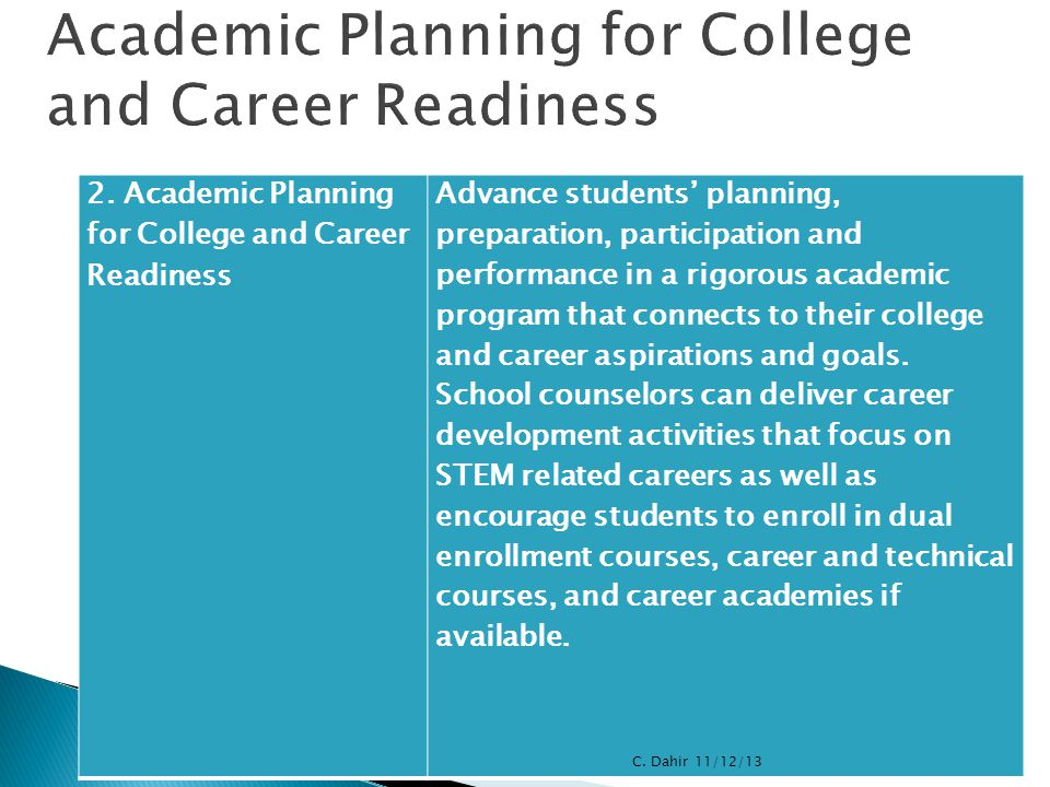Academic Planning for College and Career Readiness