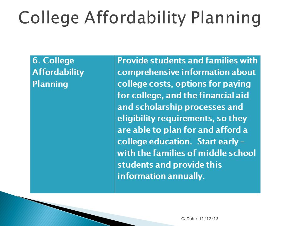 College Affordability Planning