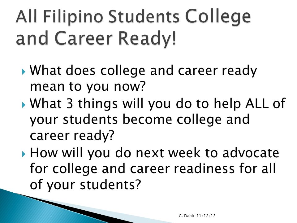 All Filipino Students College and Career Ready!