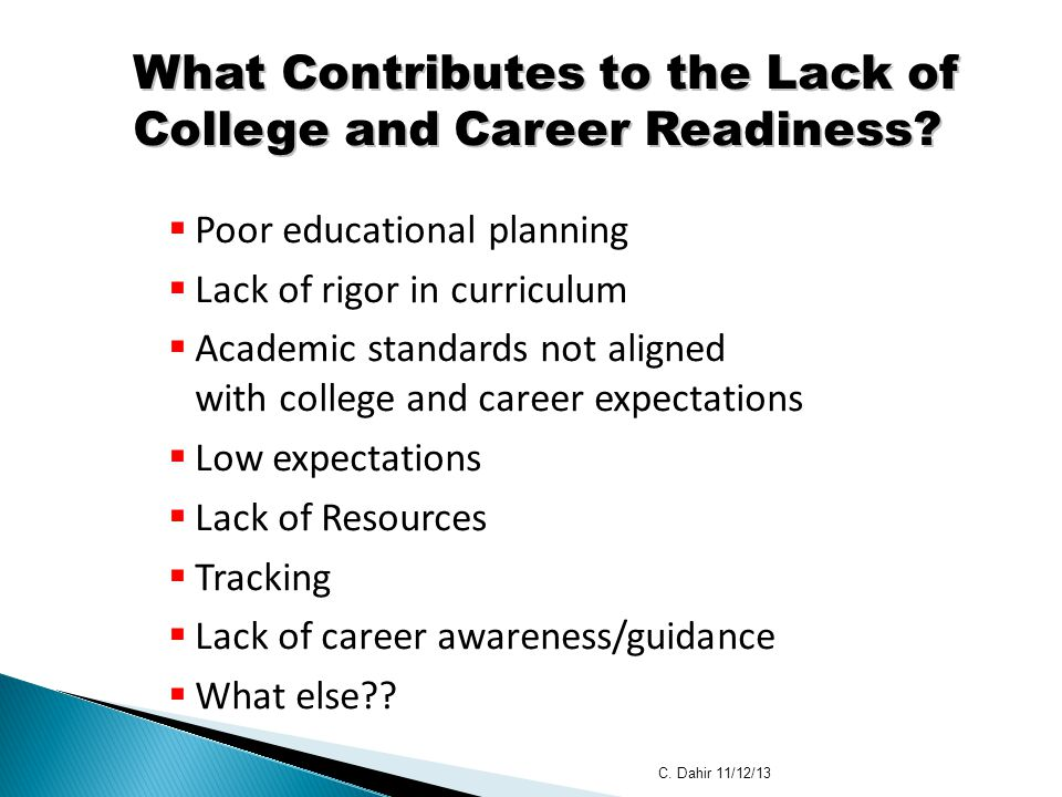 What Contributes to the Lack of College and Career Readiness