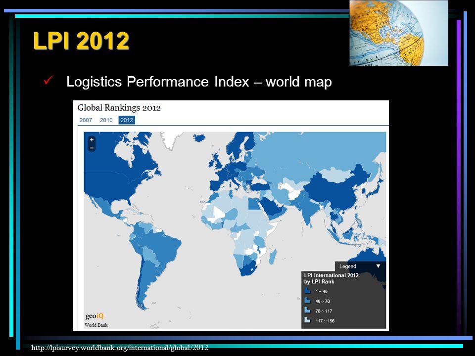 LPI 2012 Logistics Performance Index – world map