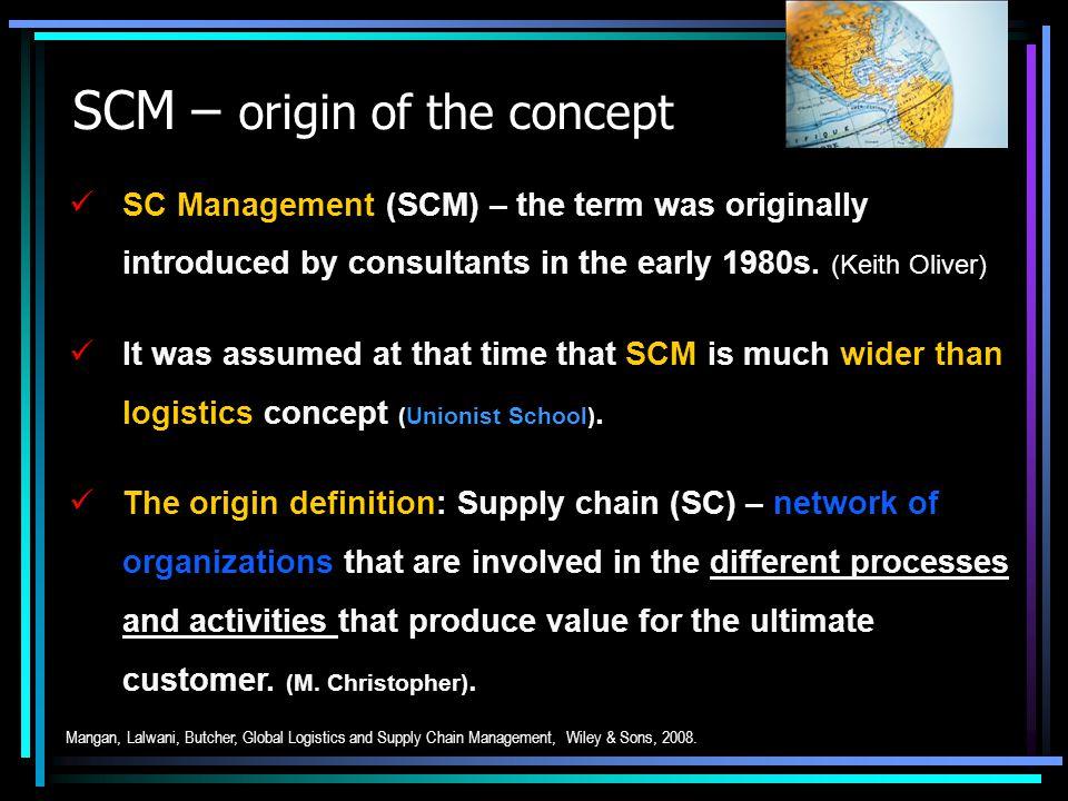 SCM – origin of the concept
