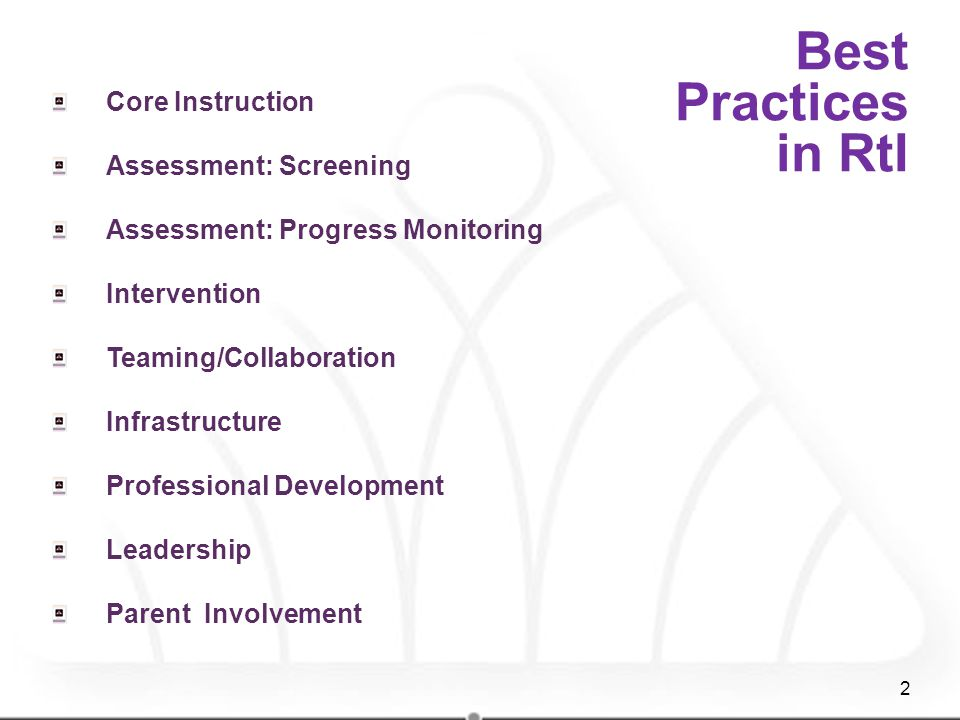 Best Practices in RtI Core Instruction Assessment: Screening