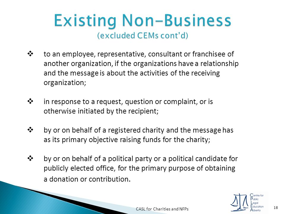 Existing Non-Business (excluded CEMs cont'd)