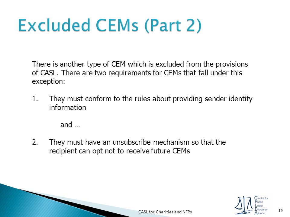 Excluded CEMs (Part 2)