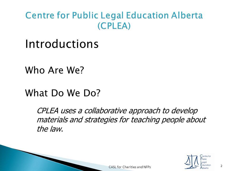 Centre for Public Legal Education Alberta (CPLEA)