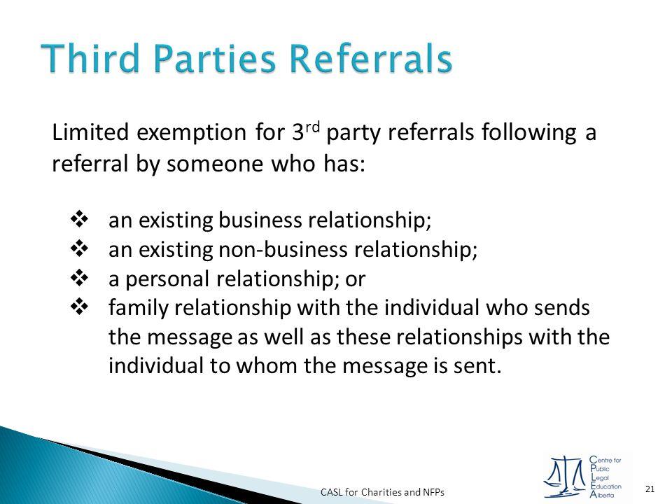 Third Parties Referrals