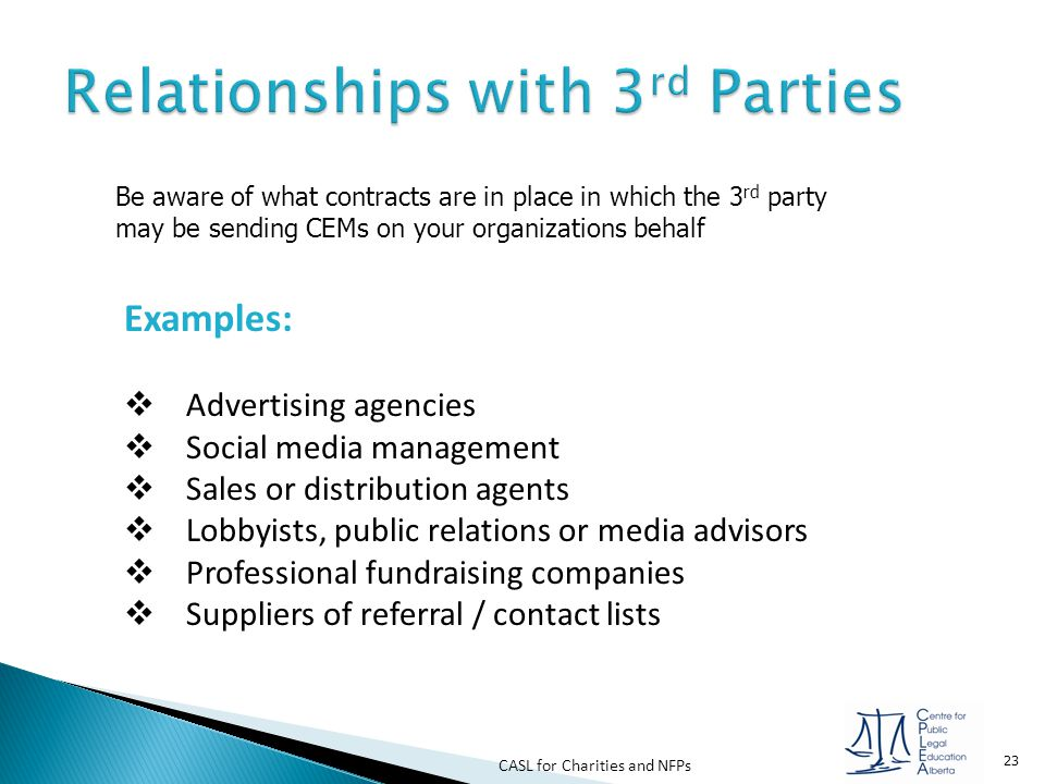 Relationships with 3rd Parties