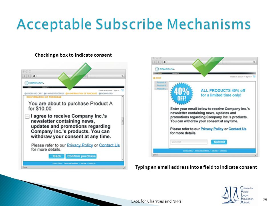 Acceptable Subscribe Mechanisms