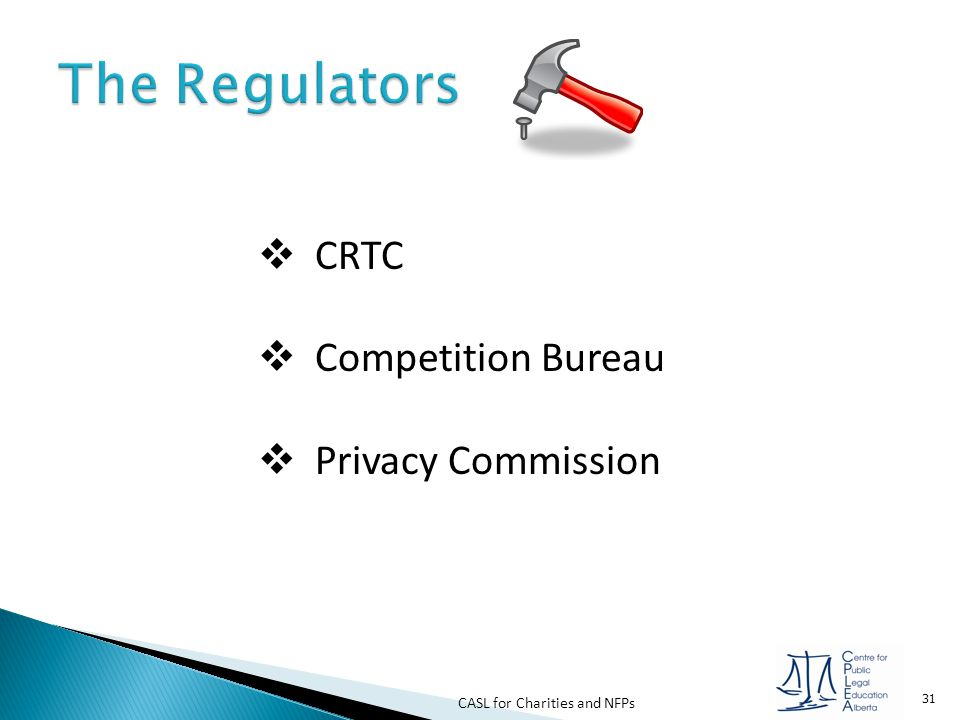 The Regulators CRTC Competition Bureau Privacy Commission