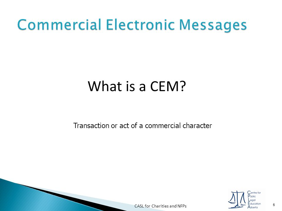 Commercial Electronic Messages