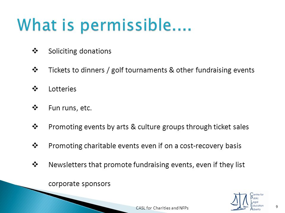 What is permissible.... Soliciting donations