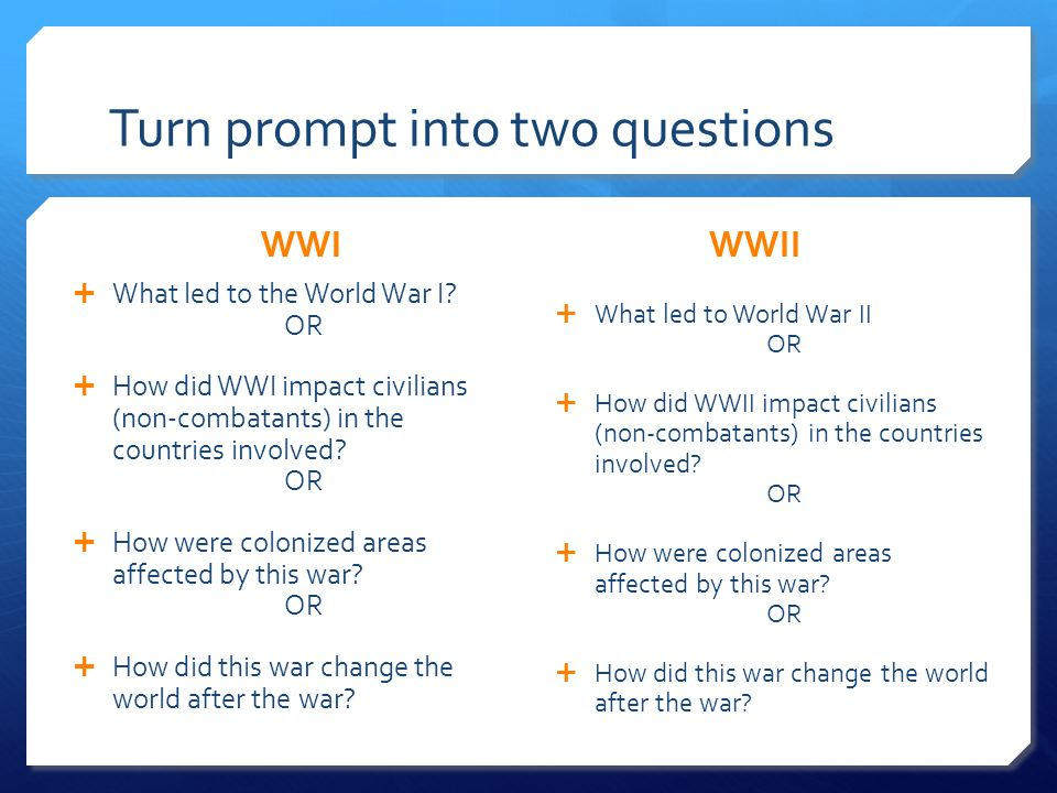 Wwi wwii similarities essay