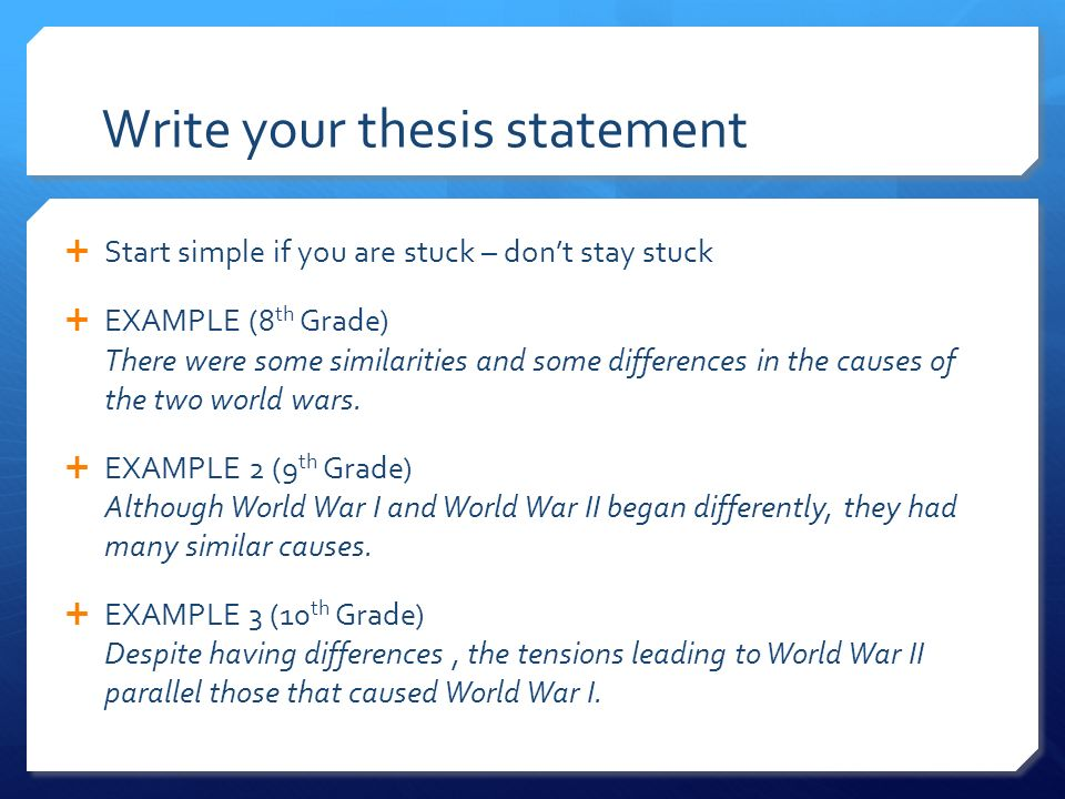 comparative essay present ppt  7 write your thesis statement
