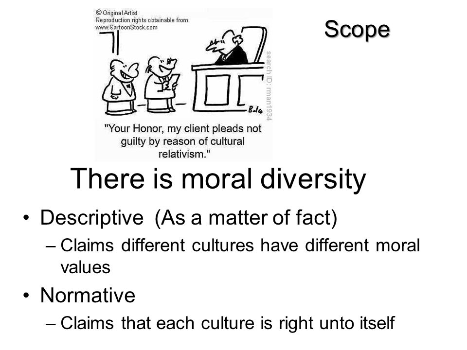 There is moral diversity