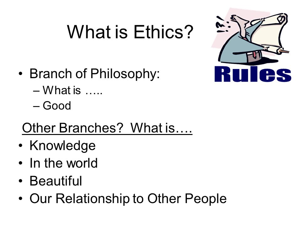 What is Ethics Branch of Philosophy: Other Branches What is….