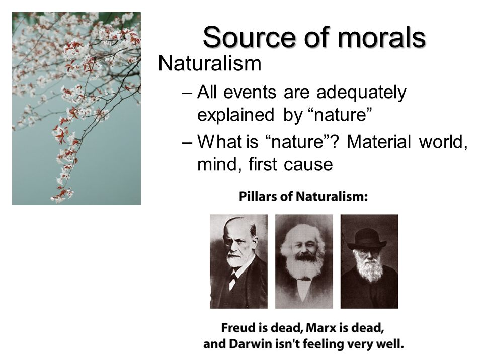 Source of morals Naturalism
