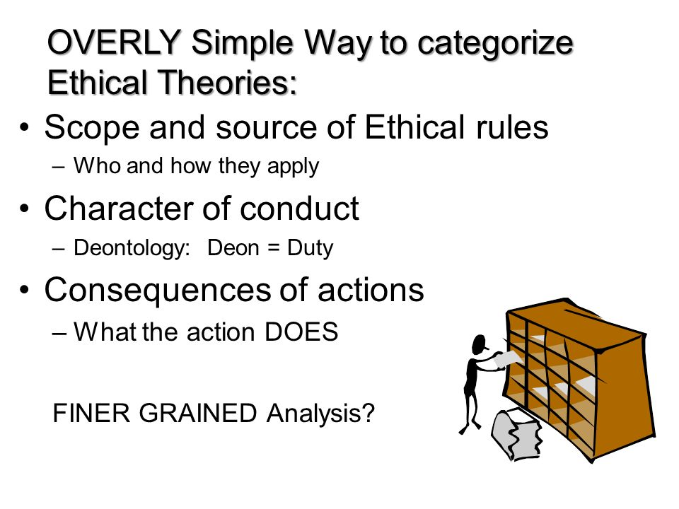 OVERLY Simple Way to categorize Ethical Theories: