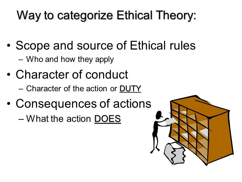 Way to categorize Ethical Theory: