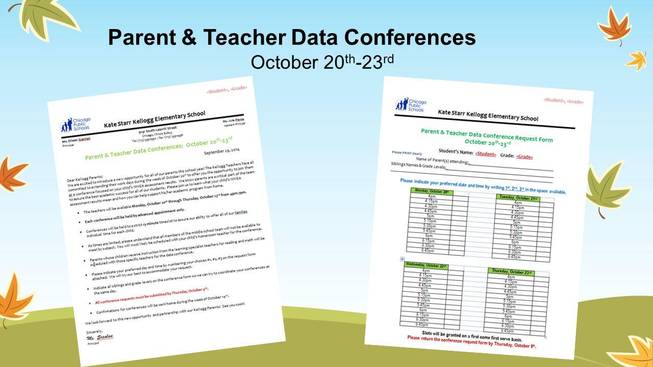 Parent & Teacher Data Conferences
