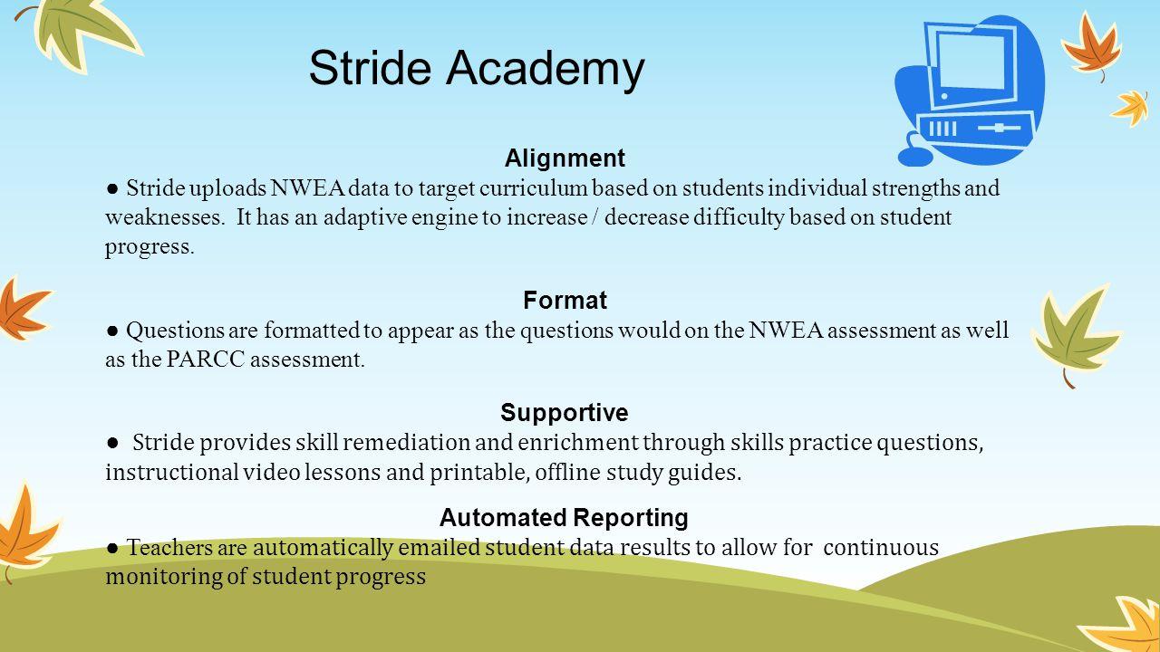 Stride Academy Alignment.