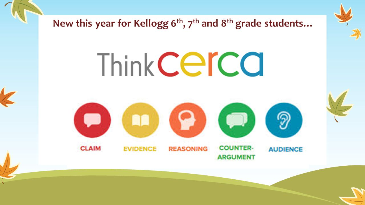 New this year for Kellogg 6th, 7th and 8th grade students…