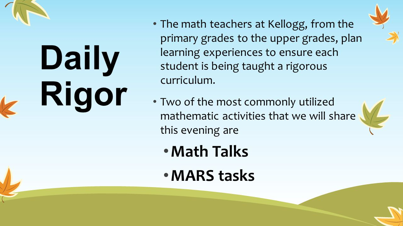 Daily Rigor Math Talks MARS tasks