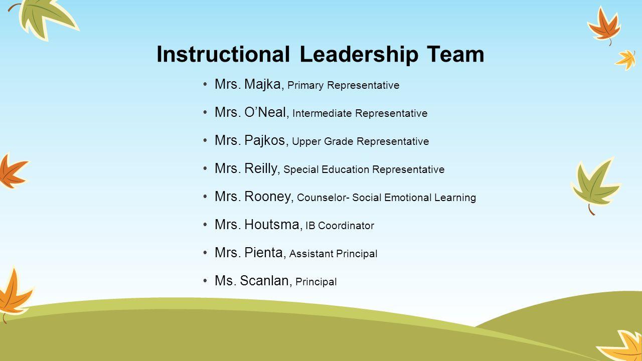 Instructional Leadership Team