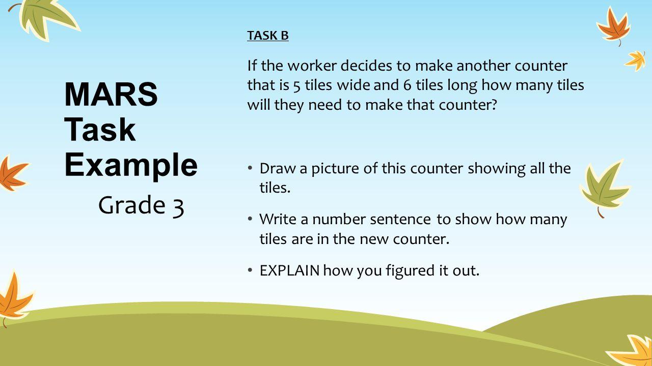 MARS Task Example Grade 3
