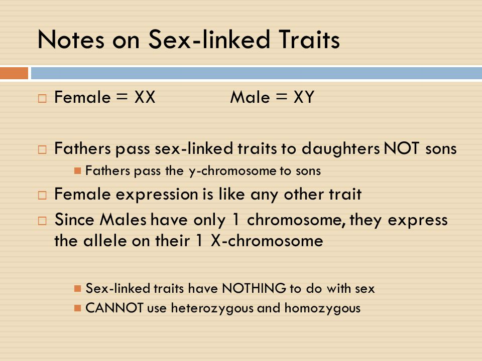 Notes on Sex-linked Traits