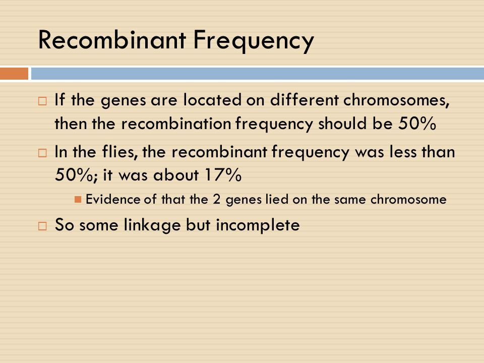 Recombinant Frequency
