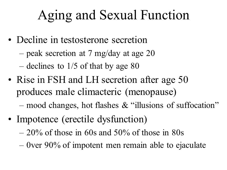 Aging and Sexual Function