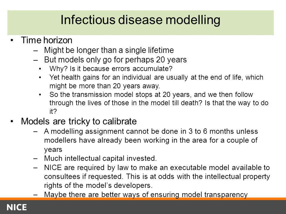 Infectious disease modelling