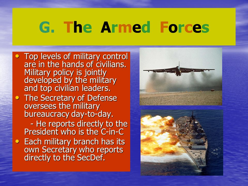 G. The Armed Forces