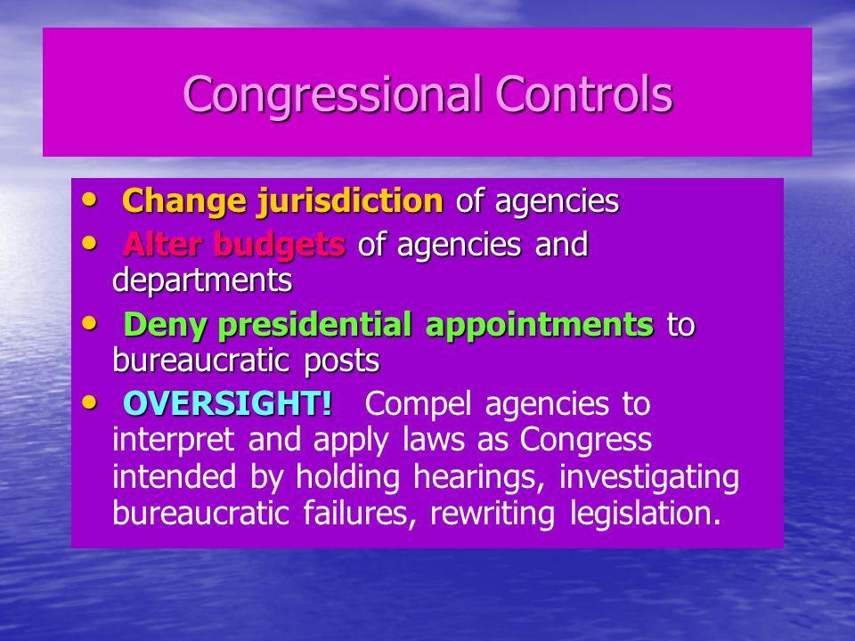 Congressional Controls