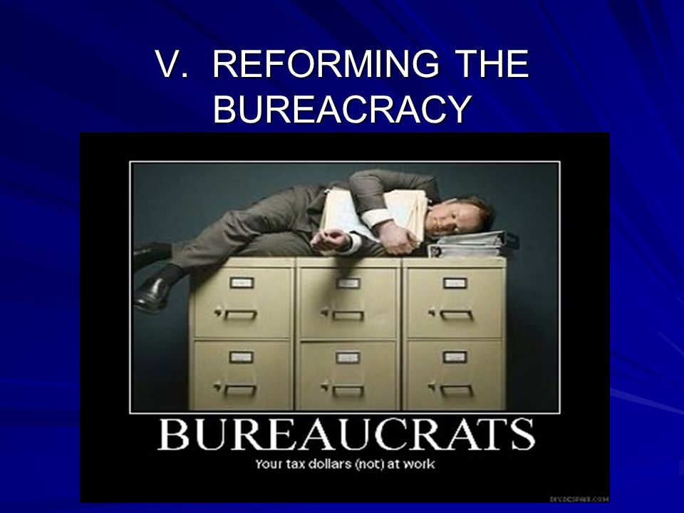V. REFORMING THE BUREACRACY