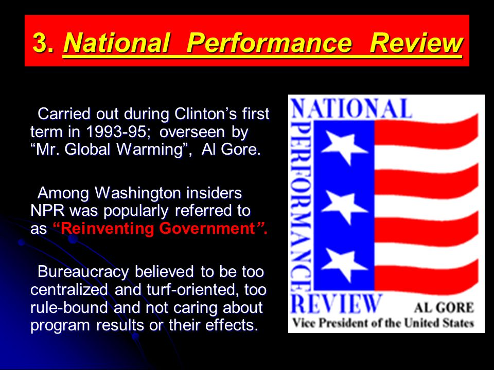 3. National Performance Review