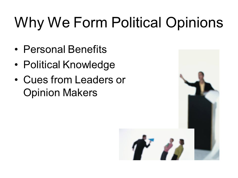 Why We Form Political Opinions