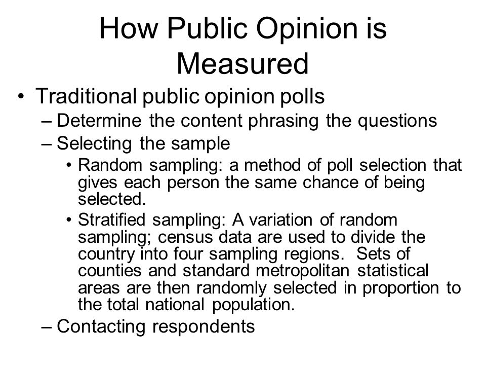 How Public Opinion is Measured