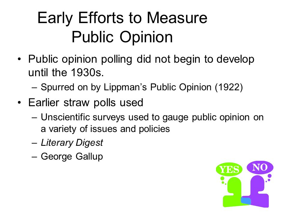 Early Efforts to Measure Public Opinion