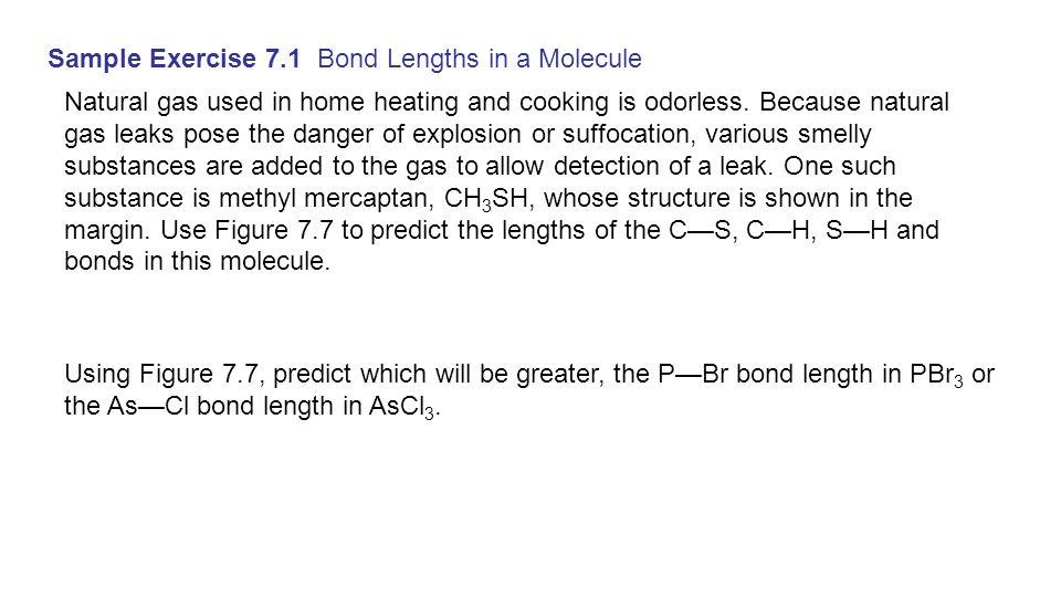 Sample Exercise 7.1 Bond Lengths in a Molecule