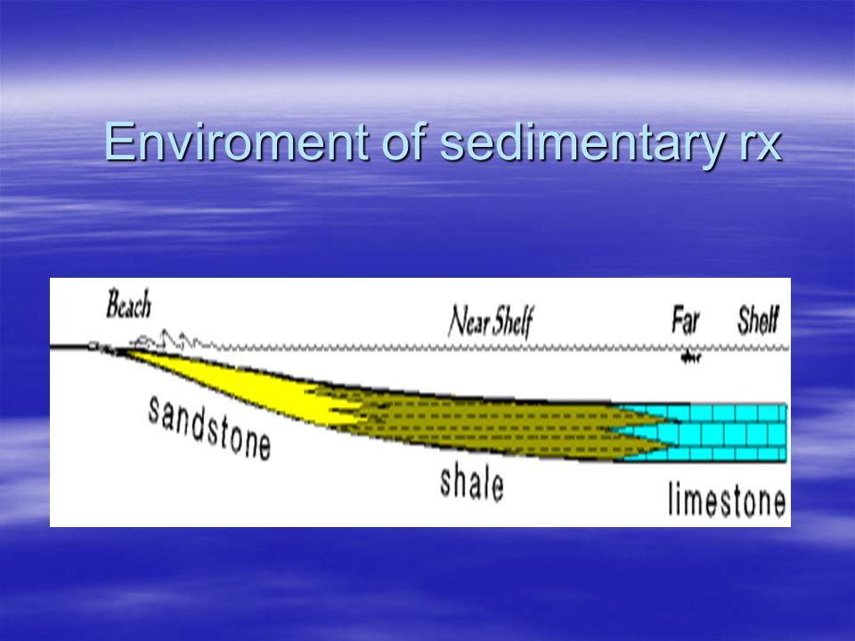 Enviroment of sedimentary rx
