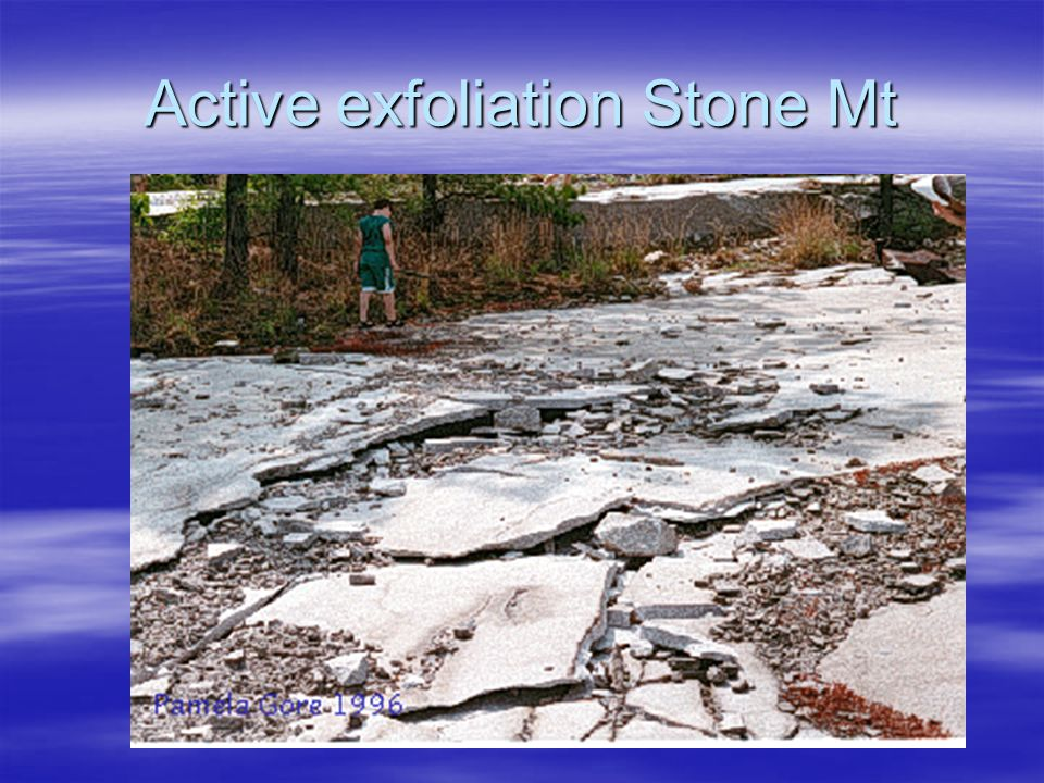 Active exfoliation Stone Mt